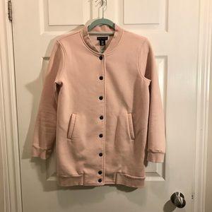 Willi Smith pink button up sweatshirt sz M